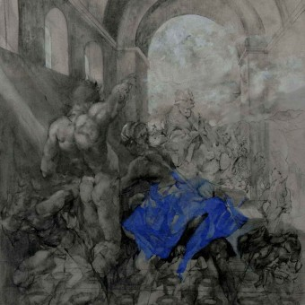 """Collapse of Empire"" Ink, Charcoal, Wash Pencil 32″X50″"