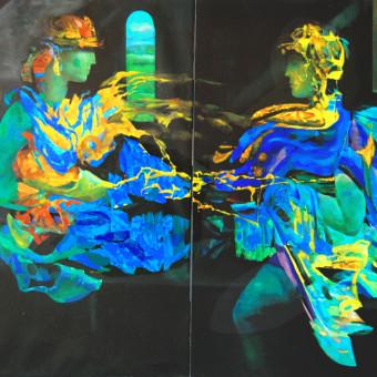 """""""Romeo & Juliet"""" Canvas on 2 panels 40″x60″"""