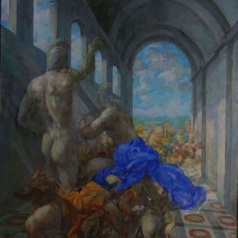 Collapse of Empire, oil on canvas 72×48