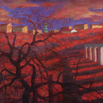 City of Melting Metal (devoted to Chernobyl catastrophy)canvas48x72