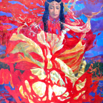 Lady of a Lake 36″x48″