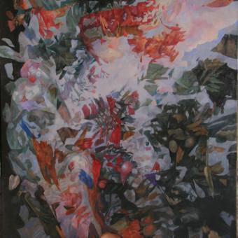"""""""Flora & Fauna"""" Oil on Linen 48″x72″"""