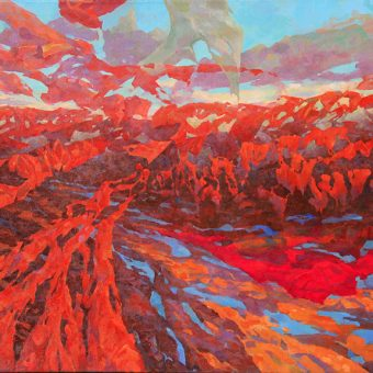 Way to The City of Melting Metal 48″x70″