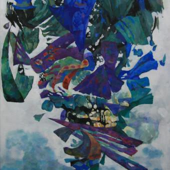 """""""Libretto"""" Acrylic on Paper 31″x23″"""