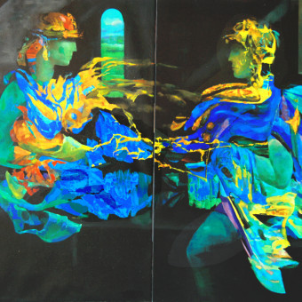 """Romeo & Juliet"" Canvas on 2 panels 40″x60″"