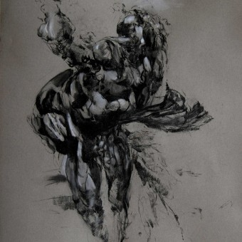 """Gesture"" Charcoal on Paper 19″x26″"