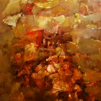 """""""Matrix"""" Oil on paper 24″x19″"""