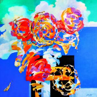 Trans-Flowers 48″x48″